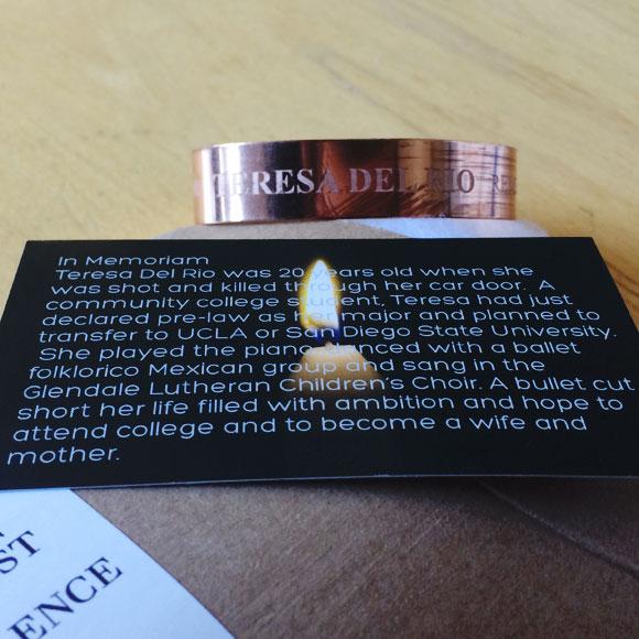 Teresa del Rio Commemorative Copper Bracelet