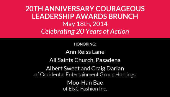 20th Anniversary Courageous Leadership Awards Brunch