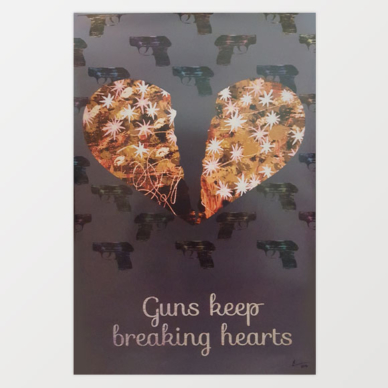 Guns Keep Breaking Hearts by Lorenzo Hurtado Segovia