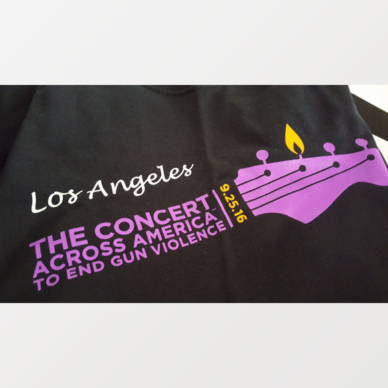 The Concert Across America To End Gun Violence, Los Angeles T-shirt