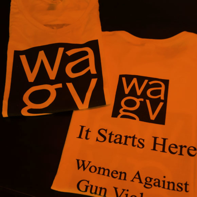 WAGV men's orange crew t-shirt