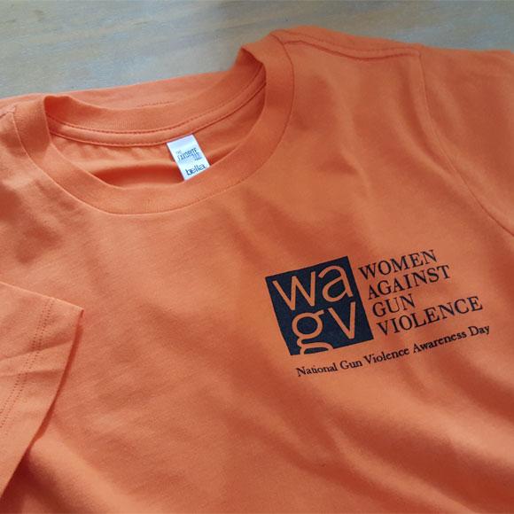 Women's Cap-Sleeve WAGV #WearingOrange T-shirt